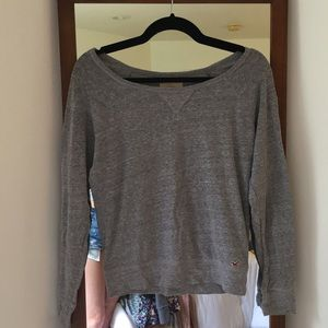 Grey Hollister Long Sleeve Top